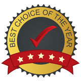Vector label - best choice. With checkmark tick Royalty Free Stock Photography