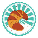 Vector label croissant Royalty Free Stock Photo