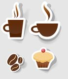 Vector label for design. A set of stickers to advertise coffee Stock Photo