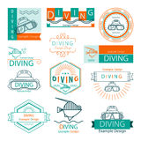 Vector label diving Royalty Free Stock Photos