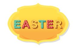 Vector label elements of easter holiday stock photography