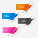 Vector Label Elements Royalty Free Stock Photography