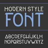Vector label font, modern style. Stock Image