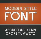 Vector label font, modern style. Blue alphabet on black background vector illustration