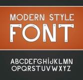 Vector label font, modern style. Blue alphabet on black background Royalty Free Stock Image
