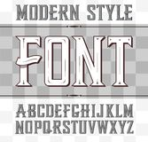 Vector label font, modern style. Whiskey. Style Royalty Free Illustration