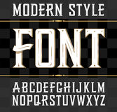 Vector label font, modern style.  Whiskey label style. Royalty Free Stock Images