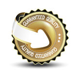 Vector label - guaranteed quality Stock Images