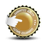 vector label - guaranteed quality Royalty Free Stock Photos