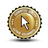 vector label - guaranteed quality Royalty Free Stock Photo