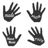 Vector label with handmade lettering - stamp for homemade products and shops Stock Photo
