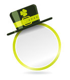 Vector label with hat for St. Patrick Day Royalty Free Stock Images