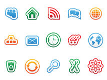 Vector label icons. Vector label icon set for web design Stock Photo