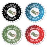 Vector label - money back. Color label - money back - vector illustration Stock Photo