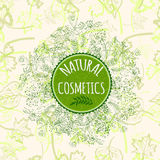 Vector label for natural cosmetic products. Royalty Free Stock Photography