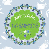 Vector label for natural cosmetic products. Stock Photography
