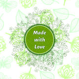 Vector label for natural cosmetic products. Royalty Free Stock Images