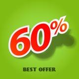 Vector label percent Stock Images