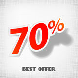 Vector label percent Royalty Free Stock Images