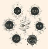 Vector label set for restaurant menu design Stock Image