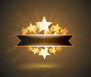 Vector label sign with gold stars Stock Image