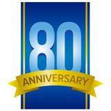 Vector label for 80th anniversary Royalty Free Stock Image