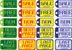 Vector Labels Stock Photography