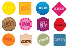 Vector labels. A set of  labels with business selling messages Royalty Free Stock Images