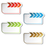 vector labels with arrow Stock Photo