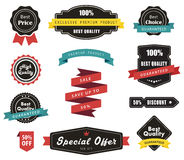 Vector Labels, Banners Ribbons and Stickers Stock Photo
