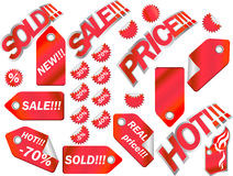 Vector labels collection Stock Photo