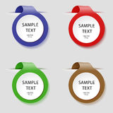 Vector labels of different colors for our labels. Banner selection royalty free illustration