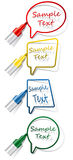 Vector labels with felt tip pen Royalty Free Stock Images