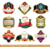 Vector labels and frames. Stock Image