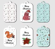 Christmas tags collection in vector vector illustration
