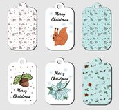 Christmas tags collection in vector stock illustration
