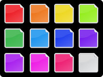Vector labels set. Vector sticker set in 12 colors stock illustration