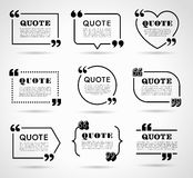 Vector Labels set for Text Quotes royalty free illustration