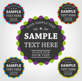 Vector labels and stickers. Vector set of small labels and stickers Royalty Free Stock Image