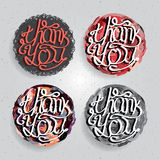 Vector labels with thank you Stock Image