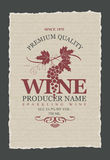 Vector labels for wine Royalty Free Stock Photography