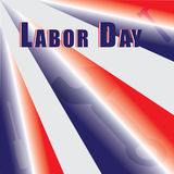 Vector Labor Day Illustration. Red white and blue vector illustration for labor day with hammer, wrench and screwdriver Royalty Free Stock Photo
