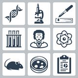 Vector laboratory icons set Royalty Free Stock Photos