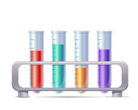 Vector laboratory test tubes Stock Photography