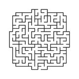 Vector labyrinth 111. Abstract maze / labyrinth with entry and exit vector illustration