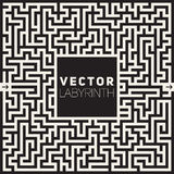 Vector Labyrinth Black And White Maze Frame Background Royalty Free Stock Images