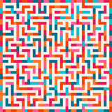 Vector Labyrinth Pink Orange Blue Maze Square on White Background Royalty Free Stock Photography