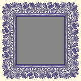 Vector Lace Big Square Frame. Royalty Free Stock Image