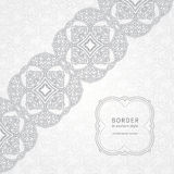 Vector lace border in Eastern style. Stock Images