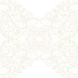 Vector Lace Card with crochet floral ornament Stock Photography